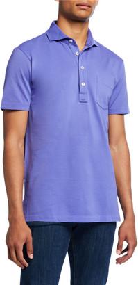 Ralph Lauren Men's Jersey Pocket Polo Shirt, Blue