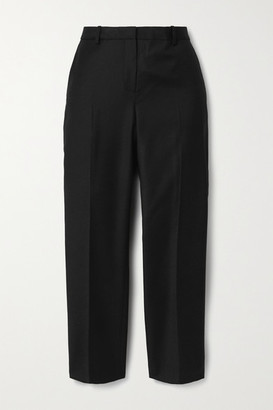 Theory Treeca Cropped Wool-twill Tapered Pants - Black