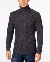 Tasso Elba Men's Big and Tall Turtleneck Mixed-Stitch Sweater, Only at Macy's