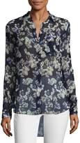 Marissa Webb Women's Wesley Silk Floral Print Blouse