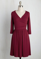 Gilli Inc Everywhere You Flow Jersey Dress in Cranberry