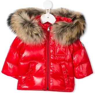 Moncler Enfant Faux-Fur Hooded Puffer Jacket