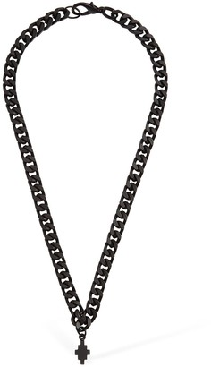 Marcelo Burlon County of Milan Cross Logo Short Chain Necklace