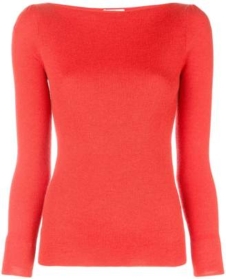 Co boat neck knitted jumper