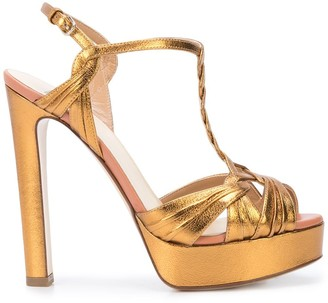 Francesco Russo T-bar open toe sandals