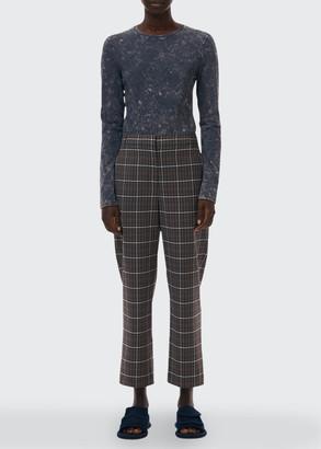 Tibi Gabe Menswear Suiting Mid-Rise Pants