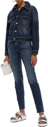 Rag & Bone Dre Frayed Low-rise Slim-leg Jeans