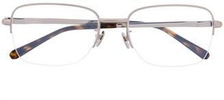 Brioni Two-Tone Square-Frame Glasses
