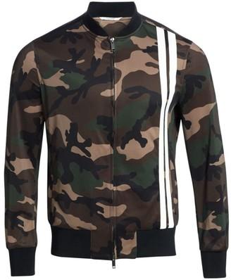 Valentino Camo Stripe Front Track Jacket