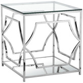 Pangea Home Edward Side Table, High Polish Steel
