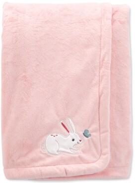 Carter's Baby Girls Bunny Fuzzy Plush Blanket
