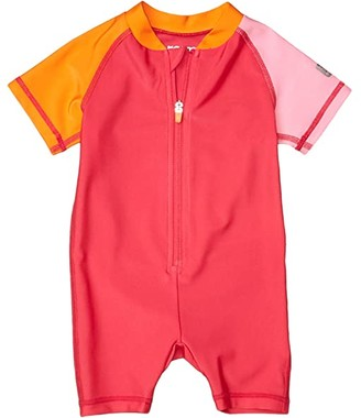 reima Swim Overall Anguilla (Infant/Toddler) (Berry Pink) Kid's Swimsuits One Piece