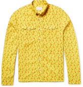 Prada Slim-Fit Button-Down Collar Printed Cotton-Voile Shirt
