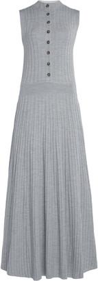 Loulou Studio Arborea Button-Embellished Ribbed Merino Wool Maxi Dress