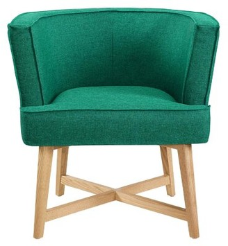 George Oliver Caryl Barrel Chair Fabric: Teal