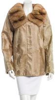 J. Mendel Sable Collar Fur Jacket
