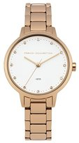 French Connection Women's Quartz Watch with White Dial Analogue Display and Rose Gold Stainless Steel Bracelet FC1281RGM