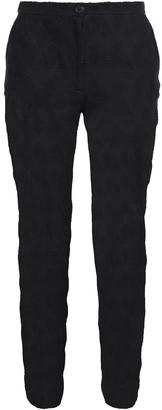 Missoni Cropped Crochet-knit Linen And Cotton-blend Slim-leg Pants