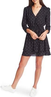 1 STATE Moonlit Polka Dot Tie Waist Dress