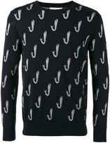 MAISON KITSUNÉ whale print sweater - men - Polyester/Viscose/Wool - M