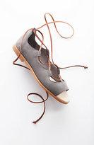 J. Jill Lace-Up Open-Toe Flats