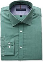 Tommy Hilfiger Men's Non Iron Slim Fit End on End Spread Collar Dress Shirt