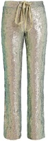 Rosie Assoulin Slim-leg sequin-embellished trousers