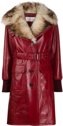 Chloé Fur Lined Leather Coat