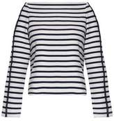 A.L.C. Crochet-Trimmed Striped Cotton-Jersey Top