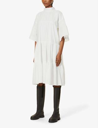 Merlette New York Astell tiered cotton midi dress