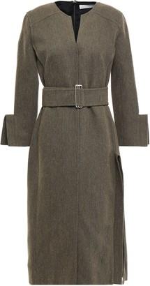 Victoria Beckham Belted Twill Midi Dress
