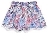 Ella Moss Girl's Izzy Print Chiffon Shorts
