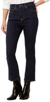 Karen Millen Cropped Kickflare Jeans, Deep Blue