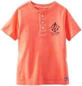 Osh Kosh Henley (Toddler/Kid) - Neon Orange-5T