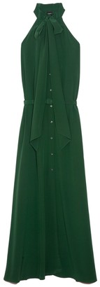 Aspesi Button Front Gown in Green