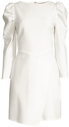 Shoshanna Upton Puff-Shoulder Sheath Dress