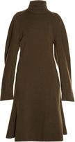Balenciaga Exaggerated-sleeve midi sweater dress