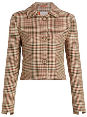 Akris Punto Glen Check Cropped Jacket