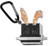 McQ Glittered Metal Keychain