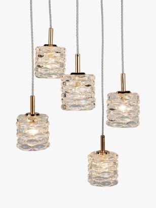 John Lewis & Partners Alana 5 Pendant Cluster Ceiling Light, French Gold