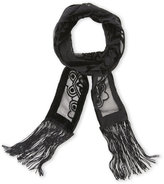 BCBGeneration Medallion Burnout Velvet Thin Scarf