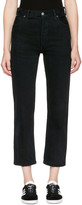 RE/DONE Re-done Black Levis Edition Destruction High-rise Crop Straight Jeans