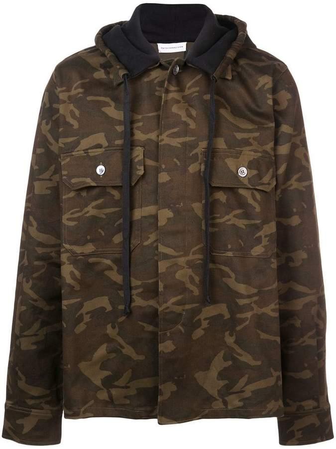 Faith Connexion camouflage print hooded jacket
