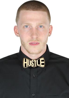 K. Hustle Hustle Bow Tie - Black & Natural