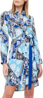 Diane von Furstenberg Prita Silk Crepe De Chine Belted Shirtdress