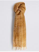 M&S Collection Herringbone Scarf