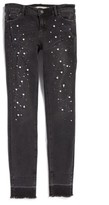 Tractr Girl's Imitation Pearl Embellished Skinny Jeans
