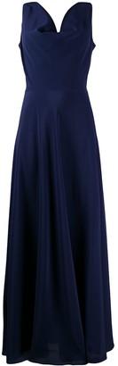 Aspesi draped V-neck silk dress