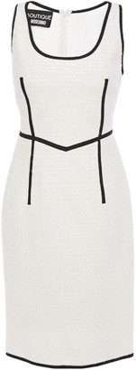 Boutique Moschino Grosgrain-trimmed Wool-blend Tweed Dress