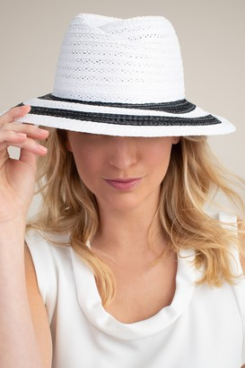 Trina Turk Derby Stripe Raffia Hat